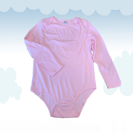 Body Kiddo Baby Neck Pink (Long Sleeves)