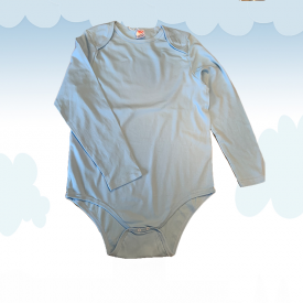 Body Kiddo Baby Neck Blue (Long Sleeves)