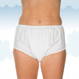 White PVC brief Suprima pull-on style