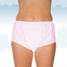Pink PVC brief Suprima pull-on style
