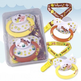 Barnyard Pacifier and Clip (2 Pack)