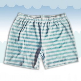 Striped Terry Cloth Shorts Blue