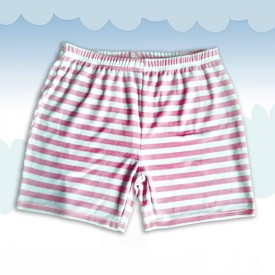 Gestreepte Terry Shorts Pink
