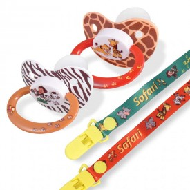 Rearz Safari Pacifier and Clip (2 Pack)