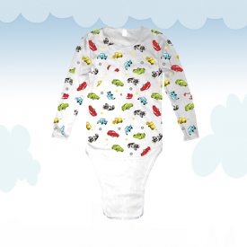 Body Kiddo Petites Voitures (Long Sleeves)
