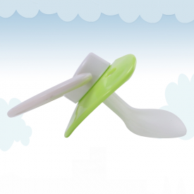 Green-White Adult Pacifier